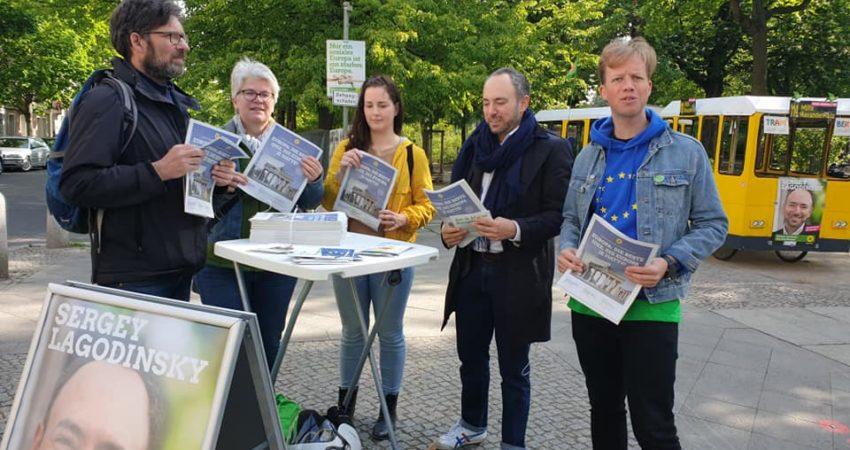 Europawahlkampf 2019 mit Stefanie Remlinger und Sergey Lagodinsky