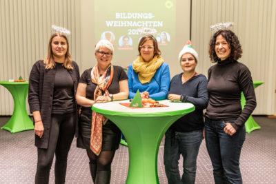 Zweites Bildungsweihnachten mit June Tomiak, Stefanie Remlinger, Silke Gebel, Marianne Burkert-Eulitz, Bettina Jarasch, Foto: Birte Zellentin